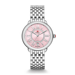 Serein Mid, Pink Diamond Dial Watch