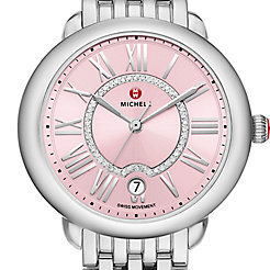 Serein Mid, Pink Diamond Dial Watch