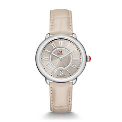 Serein Mid Stainless Steel Cashmere Diamond Watch On Cashmere Alligator Strap