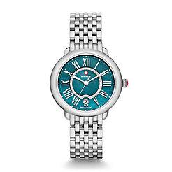 Serein Mid, Teal Diamond Dial Watch