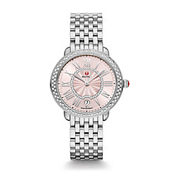 Serein Mid Stainless-Steel Blush Diamond Watch