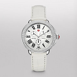 Serein Glamour Diamond White Alligator Watch