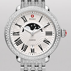 Serein Diamond Moon Phase, Taper Diamond Bracelet Watch