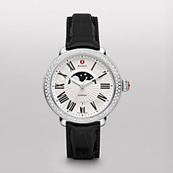 Serein Diamond Moon Phase, Black Alligator Watch