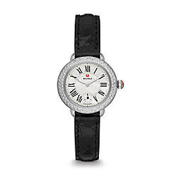 Serein 12 Diamond Black Alligator Watch