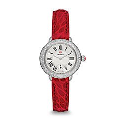 Serein 12 Diamond Garnet Alligator Watch