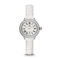 Serein 12 Diamond White Alligator Watch