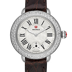 Serein 12 Diamond Espresso Alligator Watch