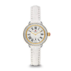 Serein 12 Diamond Two Tone White Alligator Watch