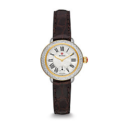 Serein 12 Diamond Two Tone Espresso Alligator Watch
