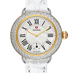Serein 12 Diamond Two Tone Silver Alligator Watch