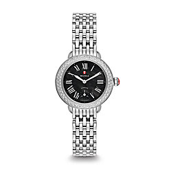 Serein 12 Diamond, Black Dial Watch