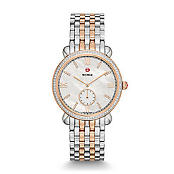 Gracile Two-Tone Rose Gold Diamond, Diamond Dial Watch
