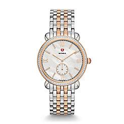 Gracile Two-Tone Rose Gold Diamond, Diamond Dial Watch
