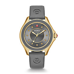 Cape Topaz Gold Tone Grey Watch