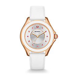 Cape Topaz Rose Gold Tone White Watch