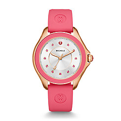 Cape Topaz Rose Gold Tone Coral Watch