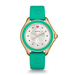 Cape Topaz Gold Tone Green Watch