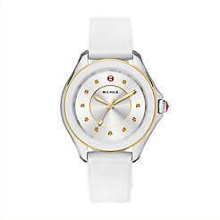 Cape Topaz Two-Tone Gold White Watch