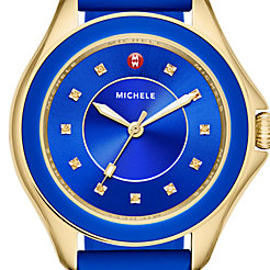 Cape Topaz Cobalt Gold Watch