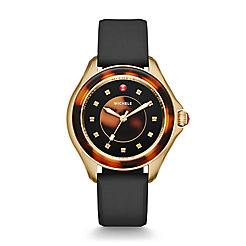 Cape Black Gold, Tort Topaz Dial Watch