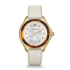 Cape Ivory Gold, Tort Topaz Dial Watch