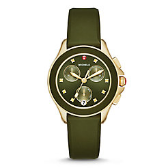 Cape Chrono Green, Gold Tone Watch