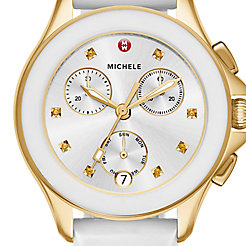 Cape Chrono Gold, White Watch