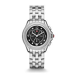 Belmore Chrono Diamond, Black Diamond Dial Watch