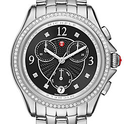 Belmore Chrono Diamond, Black Diamond Dial Watch