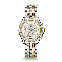 Belmore Chrono Diamond Two-Tone, Diamond Dial Watch