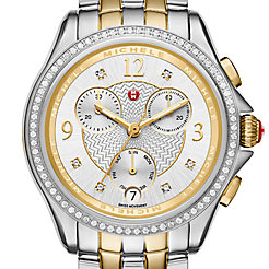 Belmore Chrono Diamond Two-Tone, Diamond Dial Watch