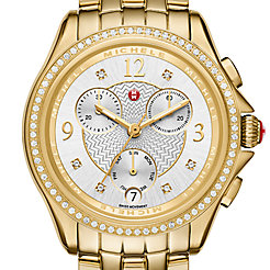 Belmore Chrono Diamond Gold, Diamond Dial Watch