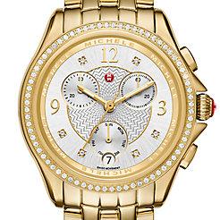 Belmore Chrono Diamond Gold, Diamond Dial Watch