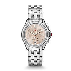 Belmore Chrono Diamond, Beige Diamond Dial Watch