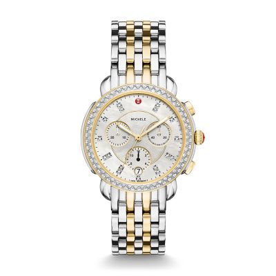 be230d4a6 MICHELE® Watches - Sidney Diamond Two-Tone, Diamond Dial Watch