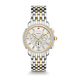 Sidney Diamond Two-Tone, Diamond Dial Watch