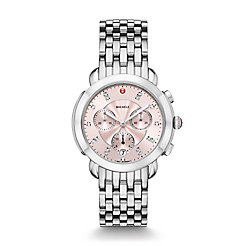 Sidney Stainless-Steel and Blush Diamond Dial Watch