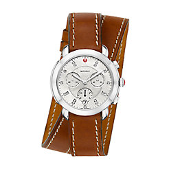 Sidney Stainless-Steel Diamond Dial and Saddle Double Wrap Watch