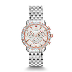 Sidney Two-Tone Pink Gold Diamond Watch