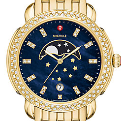 Sidney Gold Diamond Moonphase Watch