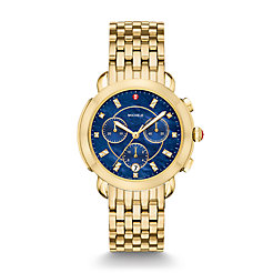 Sidney Gold Diamond Dial Watch