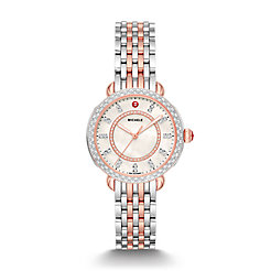 Sidney Classic Two-Tone Pink Gold Diamond Watch