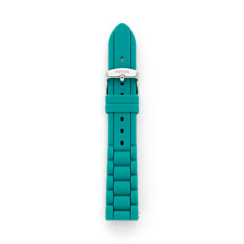 Fossil  Silicone 18mm Watch Strap - Teal  22473864