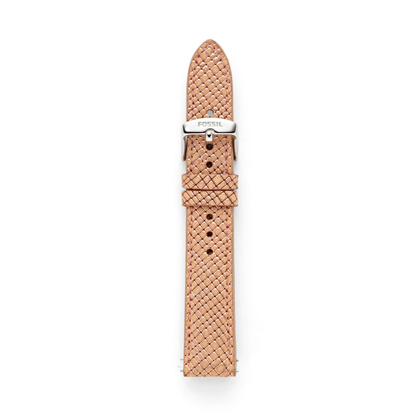 Fossil  Leather 18mm Watch Strap - Rose  22473886