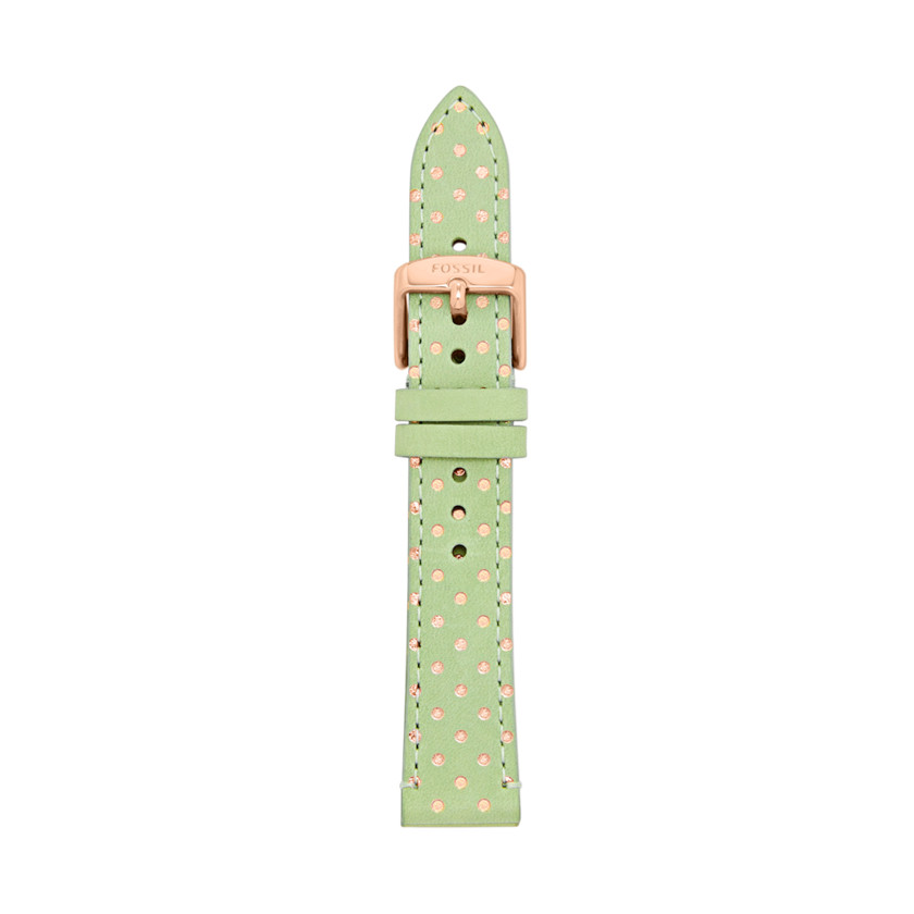 Fossil  Leather 18mm Watch Strap - Polka Dots  22494848