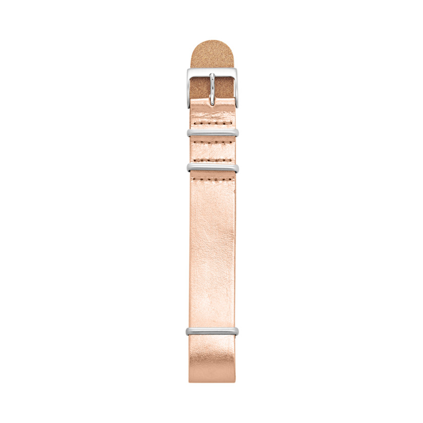 Fossil  Leather 18mm Watch Strap - Metallic Rose  22494856