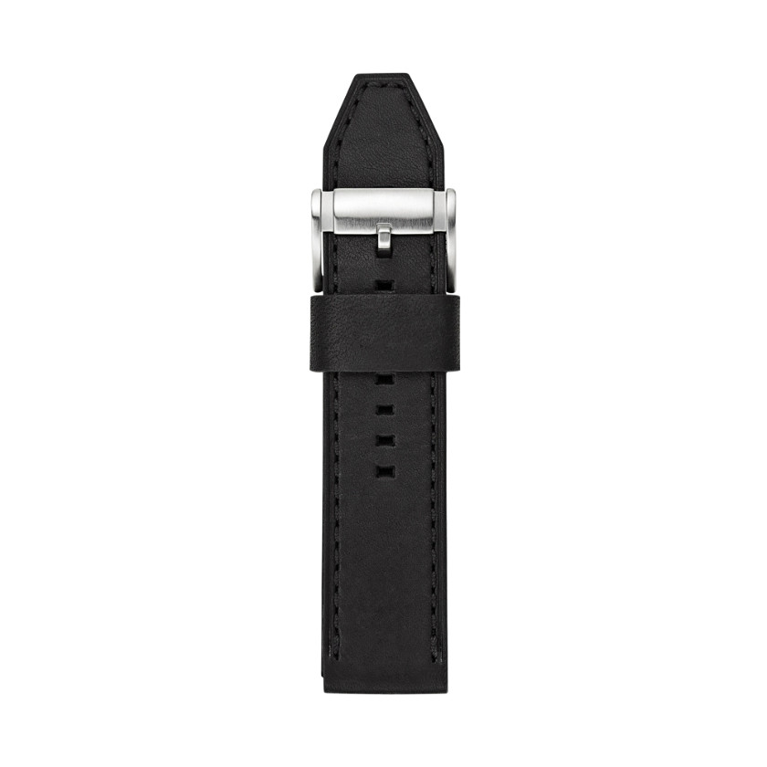 Fossil  Leather 24mm Watch Strap - Black  22332536
