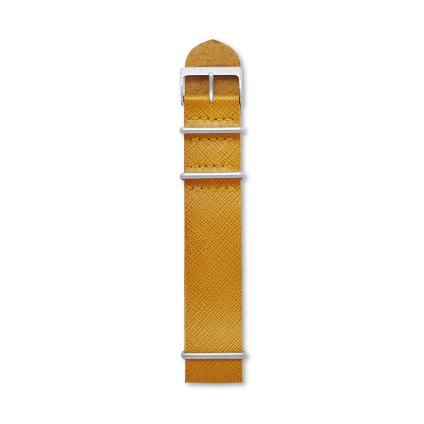 Fossil  Saffiano Leather Watch Strap - Mustard  22568442